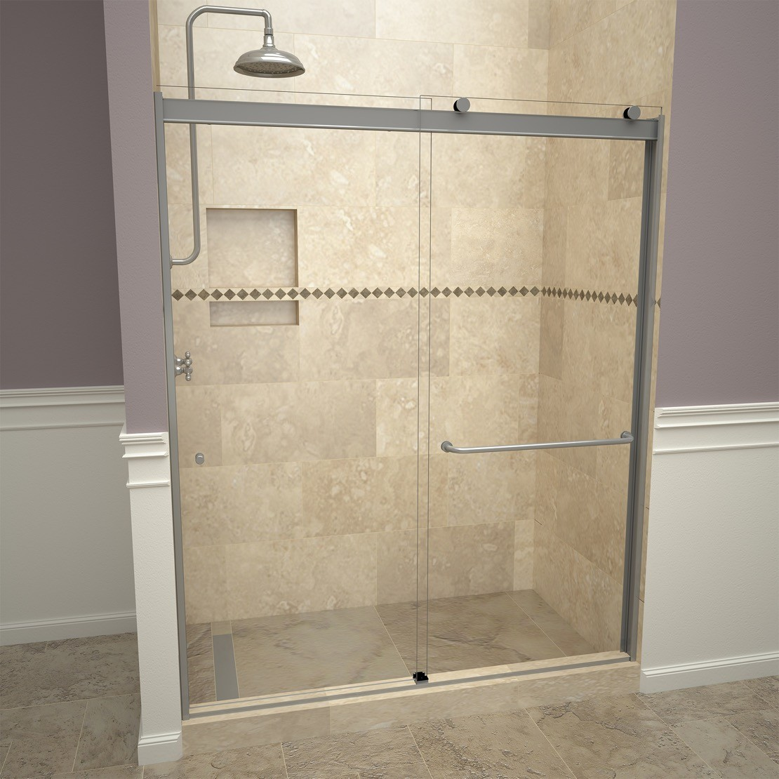 Base N Door Shower Kits Include Pan Door Niche And Flashing