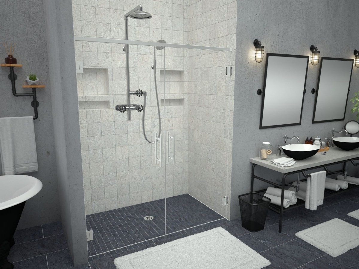 a low for solid pans innovate tileable to ready with building pan or glass shower surface solutions profile dark between brown how showdown choose ultimate vs stone enclosure tile base custom