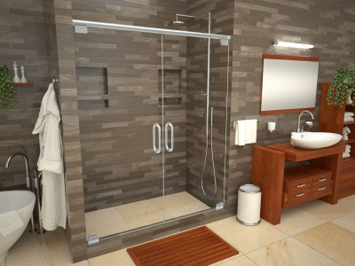 Bathtub Replacement™ with WonderFall Trench™ Shower Pans
