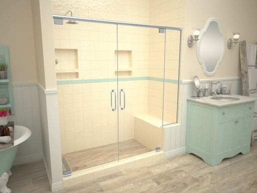 Base'N Bench® with Redi Trench® Shower Pans