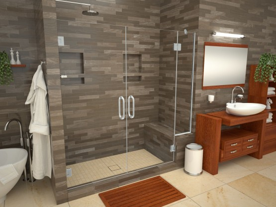 Base'N Bench® with Wonder Drain® Shower Pans
