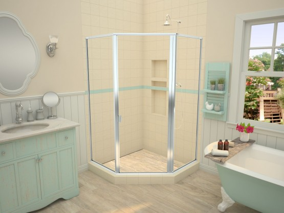 Redi Neo® with WonderFall Trench™ Shower Pans
