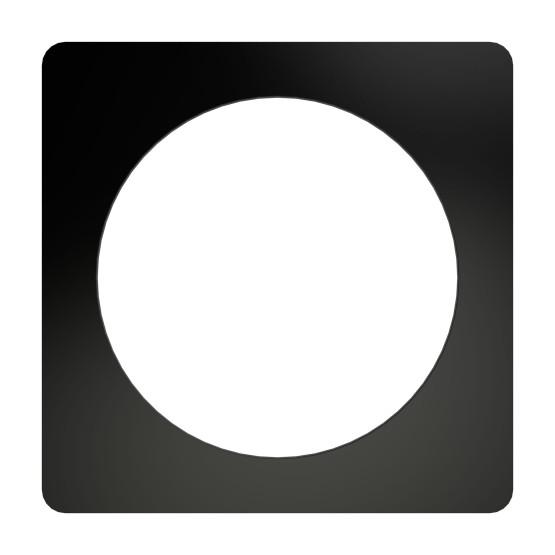 Redi Drain® Matte Black Drain Plate Trim, 5¾″ square