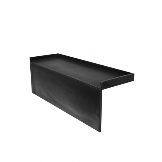 kit redi trench left drain single curb shower pan with tileable drain top 30