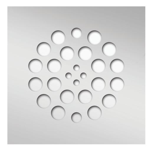 Redi Drain® Polished Chrome Drain Plate, 4¼″ square
