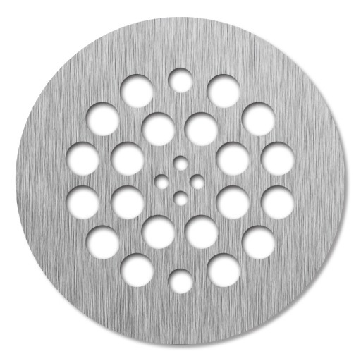 Redi Drain® Brushed Nickel Round Drain Plate, 4¼″ diameter