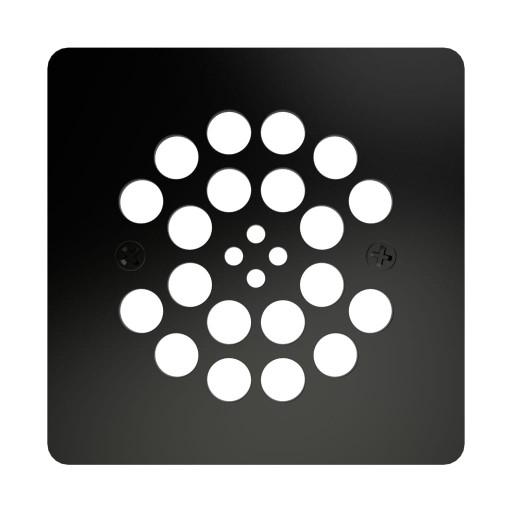 Redi Drain® Matte Black Drain Plate, 4¼″ square