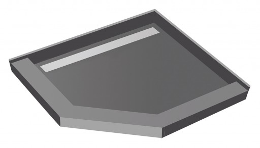 Redi Neo® Neo Angle Shower Pan With Linear Drain & Tileable Drain Top, 36″D x 36″W