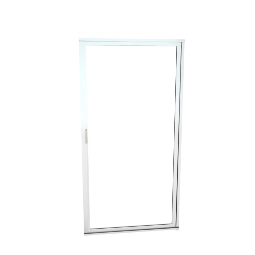 Redi Swing™ 1100V Series 28-3/8 in. W x 67 in. H Framed Swing Shower Door in Polished Chrome with Magnetic Pull Handle and Clear Glass