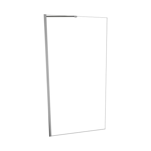 5400 Series 36 in. W x 76 in. H Semi-Frameless Shower Screen in Brushed Nickel with Clear Glass