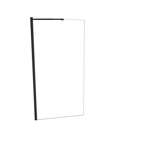 5400 Series 30 in. W x 60 in. H Semi-Frameless Tub Screen in Matte Black with Clear Glass