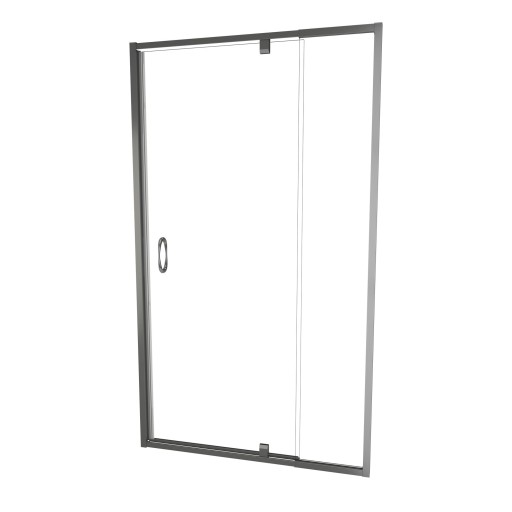 5100 Series 36-in W x 72-in H Framed Swing Shower Door in Brushed Nickel with Through the Glass Pull Handle and Clear Glass