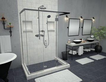 base pans shelves tile main shower free walk redi bases pan in