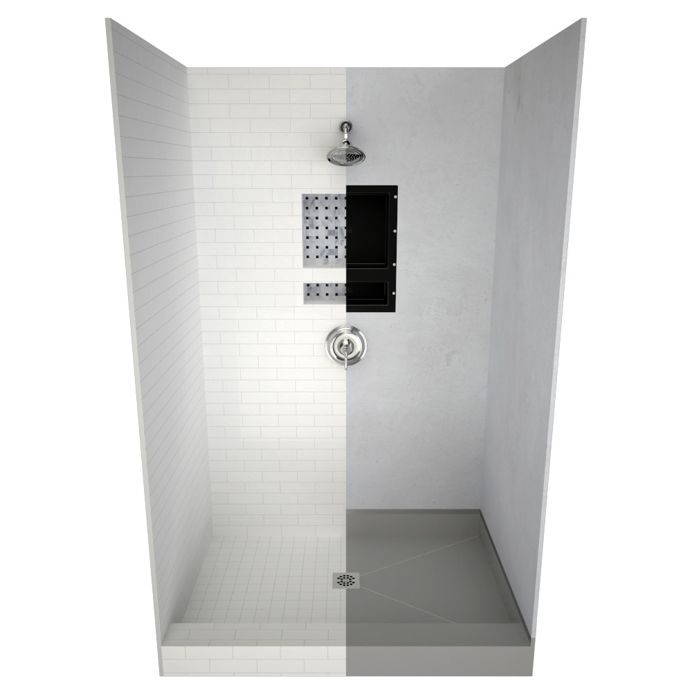 Shower Pan Replacement Bases Stand Up Shower Floors Tile Redi